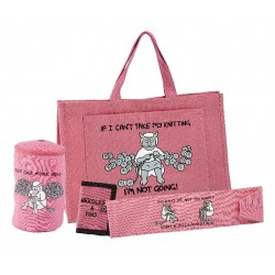 KNITTERS 4 PIECE GIFT SET-PINK