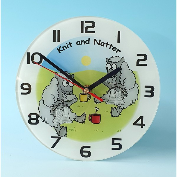 Glass Clock-KNIT AND NATTER