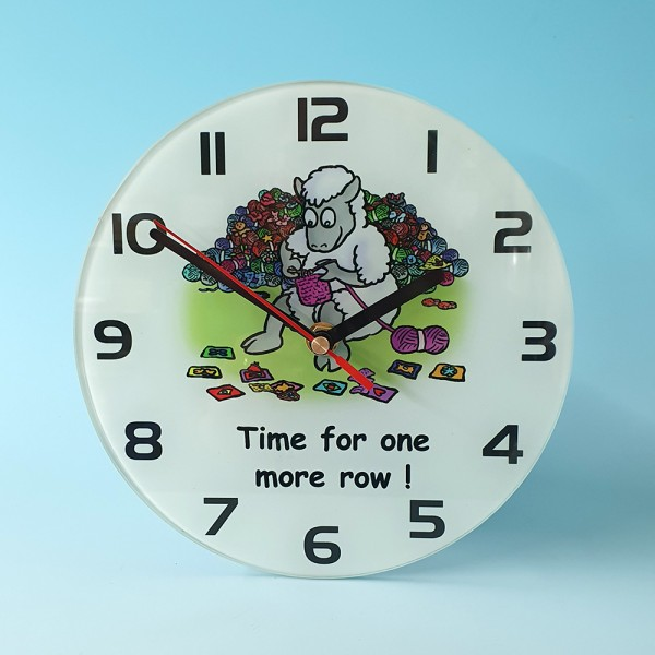 Glass Clock-TIME FOR ONE MORE ROW
