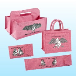 ACCESSORY BAG SET-BRIGHT PINK