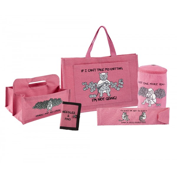 Deluxe Knitting Gift Set-Bright Pink