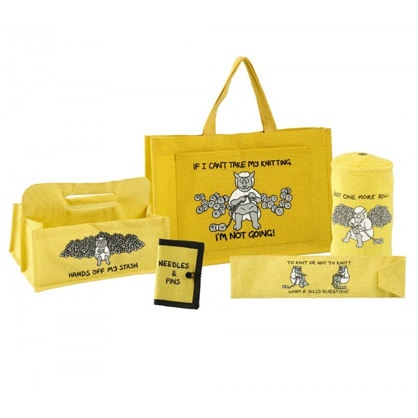 Deluxe Knitting Gift Set-Yellow