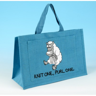 JB20 Knitting Bag-KNIT ONE, PURL ONE Turquoise