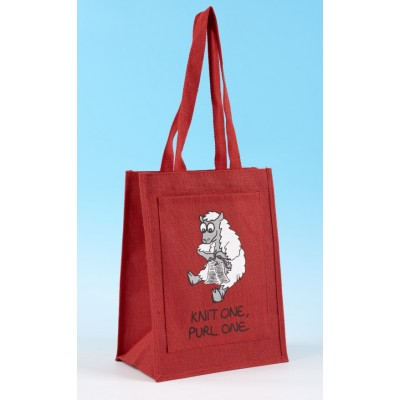 JB49 Shoulder Knitting Bag-Red