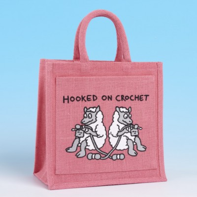 Crochet Bag-BRIGHT PINK