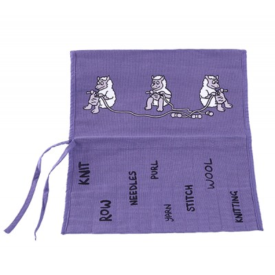 JB65 Roll Up Knitting Needle Holder-LILAC