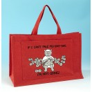 JB78 Knitting Bag-IF I CANT TAKE MY KNITTING IM NOT GOING Red