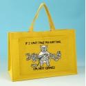JB80 Knitting Bag-IF I CANT TAKE MY KNITTING IM NOT GOING Yellow