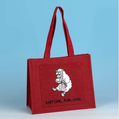 JB94 Shoulder Knitting Bag-KNIT ONE PURL ONE Red