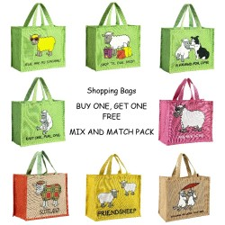 JB00 Pack of 2 Shopping Bags-Mixed Designs