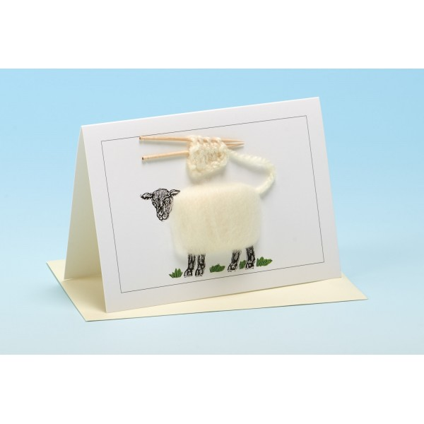 "S1 ""WHITE KNITTING"" Sheep Card"
