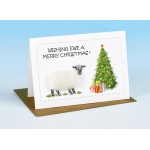 S157 Sheep Christmas Card-WISHING EWE A MERRY CHRISTMAS