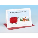 S158 Sheep Christmas Card-MERRY CHRISTMAS TO EWE