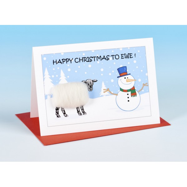 S159 Sheep Christmas Card-HAPPY CHRISTMAS TO EWE