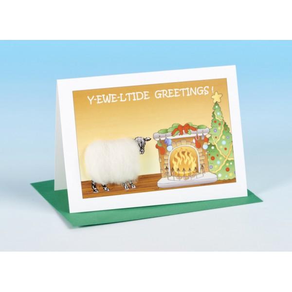 S163 Sheep Christmas Card-Y-EWE-LTIDE GREETINGS