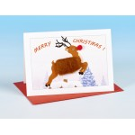 S164 Christmas Card-REINDEER