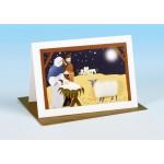 S166 Sheep Christmas Card-NATIVITY SCENE