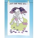 T41-Cotton Tea Towel-JUST ONE MORE ROW