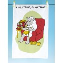 T44-Cotton Tea Towel-IF IM SITTING IM KNITTING