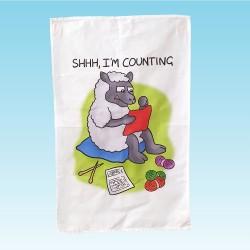 T64 Tea Towel-SHHH I'M COUNTING