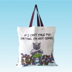 T81 Shopper Bag-IF I CANT TAKE MY KNITTING IM NOT GOING